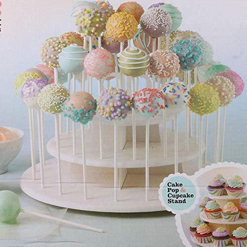 Server Cupcake Display Stand Am Stiel Halter Kuchen Rack 21 stücke Cupcake Stehen 42 stücke Kuchen Steht lollipop Halter ()