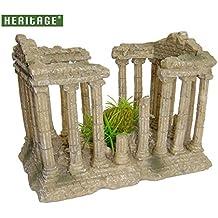 Heritage peces de acuario tanque Ornamento Romano Templo Columnas Ruinas Decor Decoración