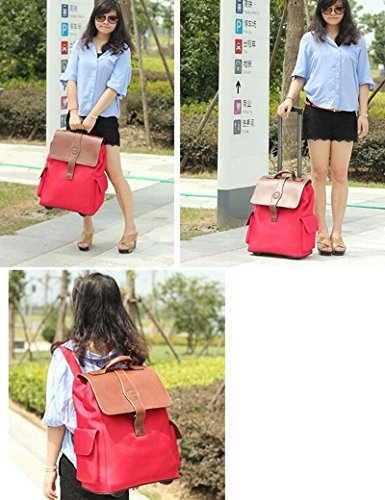 Oxford Material Kann Schulter zurück sein Kann Trolley Tasche ziehen Reisetasche Hochleistungsgepäck Tasche ( Farbe : 3 , größe : 22 inchs ) 1