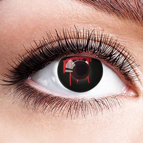 Farbige Kontaktlinsen Schwarz Rot Ohne Stärke mit