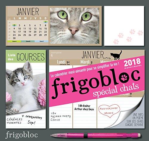 Frigobloc 2018 spécial Chats - Calendrier d'organisation familiale