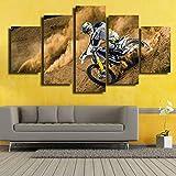 mmwin Haute Quanlity Image sur Toile Moderne 5 Pièces/Pcs Motocross Voiture HD Imprimé De Mariage Décoration pour Le Salon...