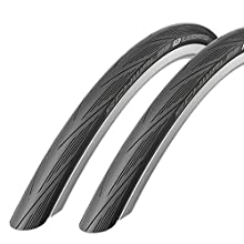 Schwalbe Lugano 700c x 25 Road Racing Bike Tyres (with Puncture Protection) - Pair
