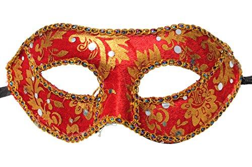 Super Wert Rot und Gold Venezianische Maskerade Partei Karneval Augenmaske Maske