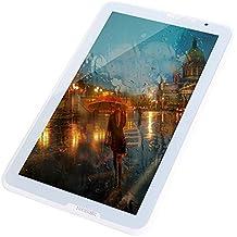 TCYP Tablet de 10.6 pulgadas Android 5.0, Touch Pad, Núcleo Quad Core , Wifi, 3G, 1.5 GHz Memoria de 16 GB, 1 GB de RAM, Pantalla HD 1366 * 768,2MP / 5MP Trasero, 8000mAH Batería 10 horas, Soporta OTG a HOST, Tablet PC HD Android Lollipop Blanco