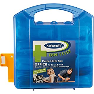 Actiomedic 418.035.91560 Verbandskasten DIN 13 157, blau, 29 x 10 x 28 cm