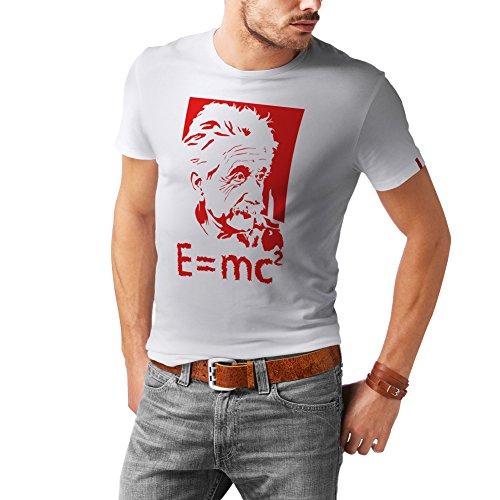 N4115 T-shirt da uomo Funny Like Albert Einstein Bianco Rosso
