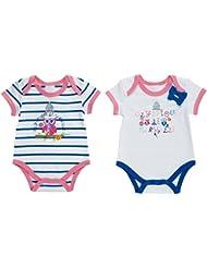 Lot de 2 bodies OM - Collection officielle Olympique de MARSEILLE - Taille bébé fille