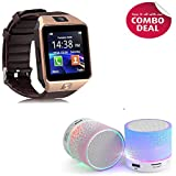 Padraig DZ09 with Camera,Touch Screen, Bluetooth, Support SIM Card, SD Card Smartwatch with Wireless LED Bluetooth S10 Hand-free Speakers