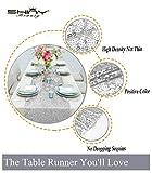 shinybeauty Shimmer Silber - Pailletten Tischläufer tassel-30 X 180 cm, Glitzer Rund Pailletten Stoff für Tisch Läufer in Party Hochzeit Bankett Tisch Leinen Layout oder Dekoration - 3