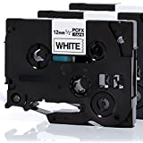 PCFX Alemania - repuesto 3 Pack cinta de etiquetas compatible TZ231 / TZE231 / TZ-231 Brother P-Touch PT 1000 - 12 mm de ancho largo 8m x (3 Negro sobre Blanco)