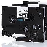 iTecXpress24 - 3x original Eseller ESD Etikettenband  Schriftband  Schriftbandkassette  Tape für TZ 231  TZ231  TZ-231 Brother P-Touch Drucker Label Print Printer Gerät u.a. PT1005 1000 1010 1000W 1090 1090VP E100 E100VP P700 P750W Professionell PC MAC D400 VP D200 BW 2430PC PT-2430PC USB 2730VP 7000 9000er Serie PTD450VP PTE500VPG1 PTD200BWZG1 PT-9700PC H75 H105 H300 H500 Modell  12mm breit x 8m Länge  3 Stück Schwarz auf Weiß - 100% neu & kompatibel für TZe-231 PT Beschriftungsgerät