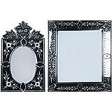 MADHUSUDAN GLASS WORKS Mirror & Plywood Wall Mirror (Pack Of 2, Silver) - B07BJ4DDH5