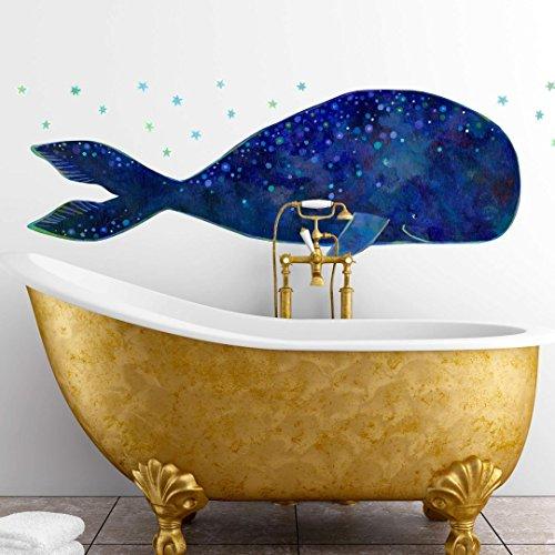 Preisvergleich Produktbild Wandtattoo, Wandaufkleber, Wandsticker, Wandtattoo Blanz - Der Walfisch, - K10742 - 60x21 cm - Wall-Art