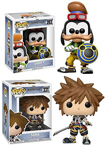 Funko POP! Kingdom Hearts: Goofy + Sora – Disney Video Game Vinyl Figure 2 Character Bundle Set NEW
