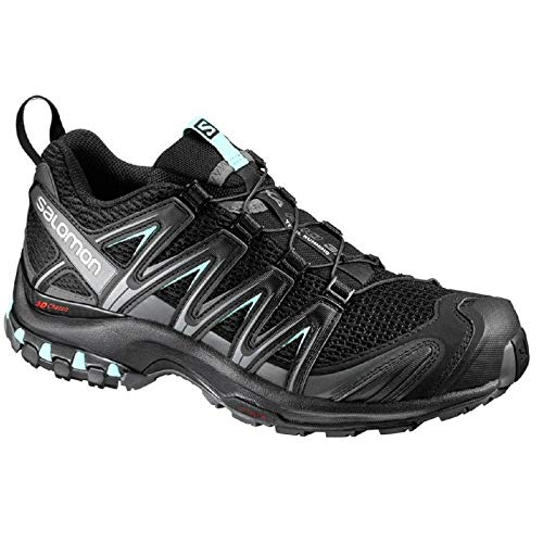 Salomon XA Pro 3D W Zapatillas de trail running Mujer, Negro Black/Magnet/Fair Aqua, 42 EU 8 UK