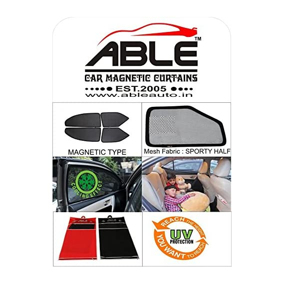 Able Sporty Half Car Magnetic Sun Shade Curtains For SKODA OCTAVIA NEW Set of 4