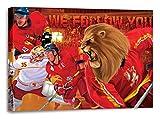 Düsseldorf Eishockey, Fan Artikel Leinwandbild, Größe: 100x70cm, Auf Holzrahmen gespannt, Kein Poster oder billig Plakat, Must Have für echte Fans