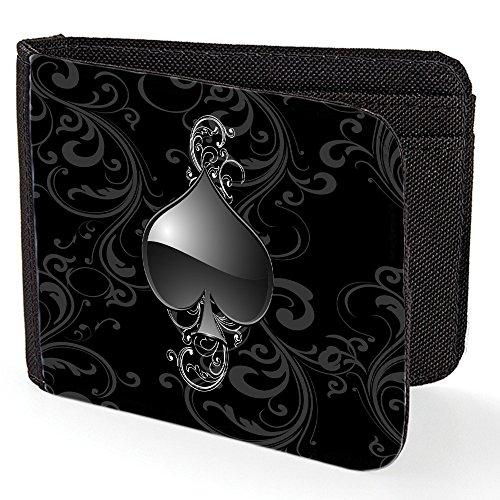 casino-10007-roulette-schwarz-designer-unisex-geldborse-kreditkarte-holder-geldbeutel-mit-beidseitig