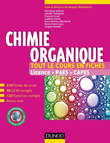 Chimie organique - Tout le cours en fiches
