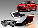 #2: Auto Pearl - Premium Quality Car DRL Day Time Running Light with Fog Lamp and Turn Indicators For - Maruti Suzuzki Swift 2018