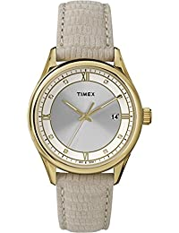 Timex Damen-Armbanduhr Women's Classic Strap Analog Quarz Leder T2P556