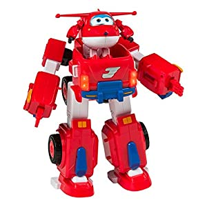 Super Wings - Vehículo transformable Jett - 46 cm (ColorBaby 43974)