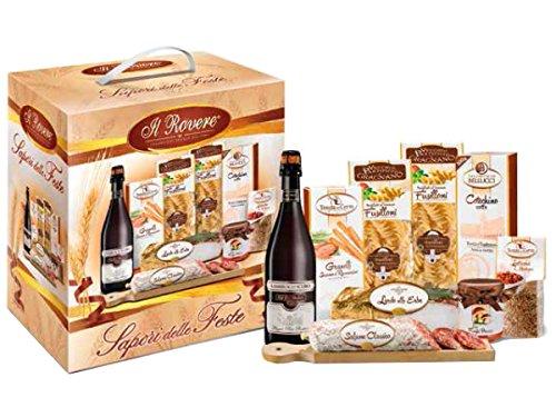 """Weihnachts Geschenk Korb """"Traditioneller Weihnachtskorb mit typischen Produkten - Insgesamt 9 Teile"""" Mit Italienische Spezialitäten - Geschenkkorb Italienische - (Code N102)"""