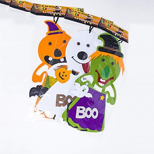OOFAY Halloween Dekorative Requisiten Szene Layout Tür Anhänger Bar Mall Dekoration Lieferungen Vlies Ornamente 3 Stücke