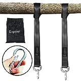 Exptool Swing Hanging Gurt Kit Aufhängeset, 1 Paar Schaukel Befestigung Hängematte-Baum-Bügel für Hängematte Hängesessel, Bäumen Befestigungsset 1.5M Länge Max 500kg