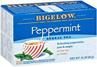 Bigelow Peppermint Herbal Tea, 20-Count Boxes (Pack of 6)
