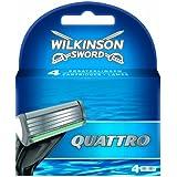Wilkinson - Quattro - Lames de rasoir pour Homme - Pack de 4