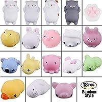 Squishy Animales, Kawaii Squishies, Mini Squishies Animal Juguetes para Estrés Relevista Regalo Decoración (10 PCS) (18 PCS)