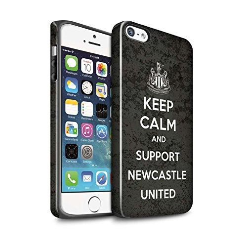 Offiziell Newcastle United FC Hülle / Glanz Harten Stoßfest Case für Apple iPhone 5/5S / Pack 7pcs Muster / NUFC Keep Calm Kollektion Unterstützung