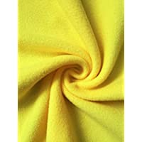 Premium Quality Anti-Pill Polar Fleece | Soft Washable Fabric | Sold by The Metre | 50+ Colours in Stock | Same Day Dispatch | by Tia Knight (Yellow, 1 Metre)