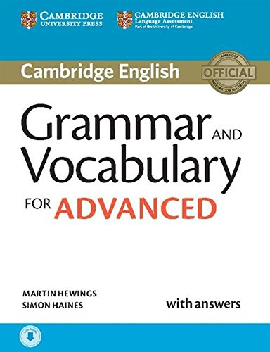 Grammar and Vocabulary for Advanced Book with Answers and Audio downloadable (Cambridge Grammar for Exams) por Martin Hewings