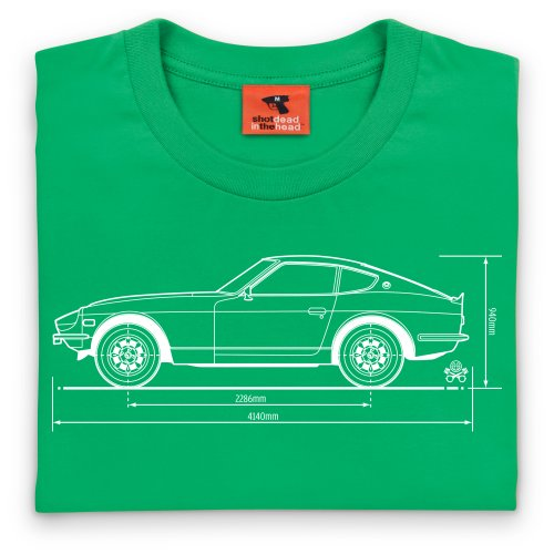 PistonHeads Fairlady Z Sports Car T-Shirt, Herren Keltisch-Grn