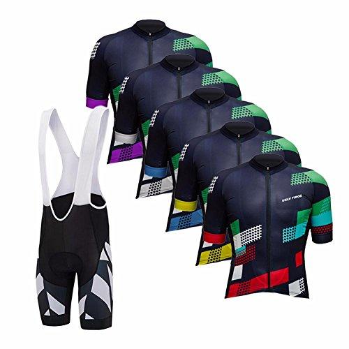 Uglyfrog 2018 New Bike Wear Herren Fahrradtrikot Trikots & Shirts+Trägerhosen Bib Tight with Gel Pad Fahrrad Hemd Fahrrad Summer Cycling Clothes