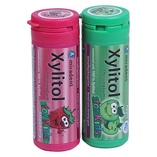 Miradent Kaugummi mit Xylit for Kids (Apple + Strawberry)
