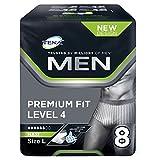 TENA Men Premium Fit Schutzunterwäsche Level 4 - Groß (12 Packungen à 8 Stück)