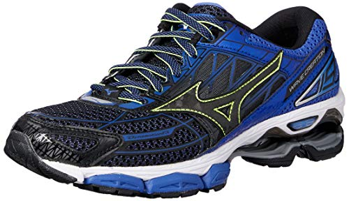 Mizuno Wave Creation 19, Scarpe da Running Uomo, Multicolore Black/Dazzlingblue, 44.5 EU