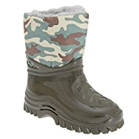 StormWells Boys Warmlined Wellington Boots (27 EU) (Green/Camouflage)