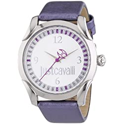 Just Cavalli - r7251593504 - Ladies Watch - Analogue Quartz - Purple Leather Bracelet