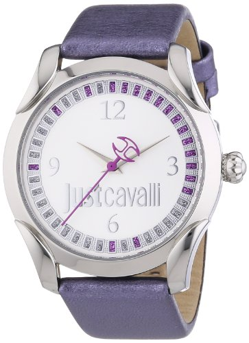Just Cavalli – r7251593504 – Ladies Watch – Analogue Quartz – Purple Leather Bracelet