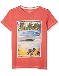 Quiksilver Place To Be Camiseta, Niños, Baked Apple Heather, L/14