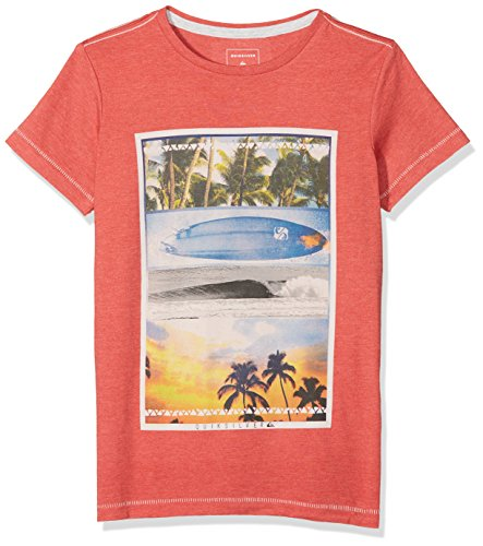 Quiksilver Jungen Placetobeyouth B Rnzh Screen Tee, Baked Apple/Heather, XS/8