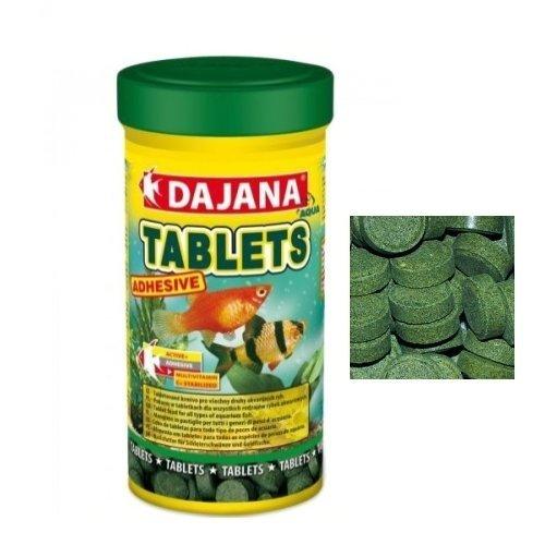 Tablets Dajana Adhesive-aliment en comprimés pour tous types de poissons d'aquarium 100 ml