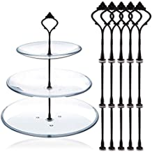 TININNA 5 Ajusta 3 Tier Crown Cake stands y casetas manija Cake Plate Holder Display de Tea Shop Room Hotel Negro
