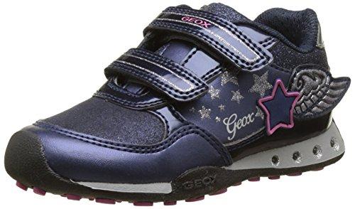 Geox Jr New Jocker a, Zapatillas para Niñas, Azul (Navy/Fuchsia), 35 EU