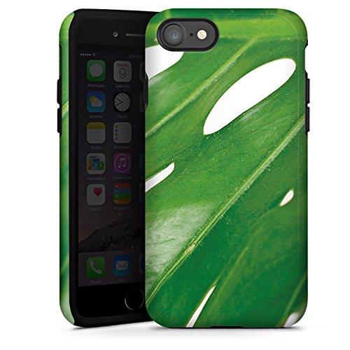 Apple iPhone X Silikon Hülle Case Schutzhülle Palmenblatt Blatt Philodendron Tough Case glänzend